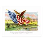 Vintager Unabhängigkeits-Tag Postkarten