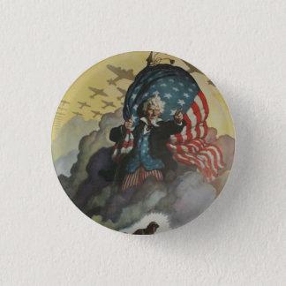 Vintager Uncle Sam Knopf Runder Button 2,5 Cm