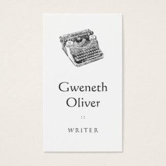 Vintager Underwood beunruhigte Schreibmaschine Visitenkarte