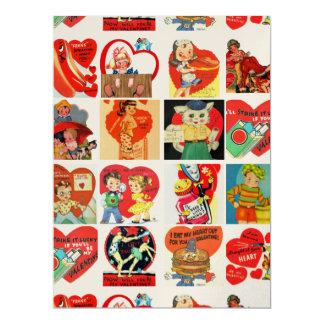 Vintager Valentinstag kardiert retro Einladungen