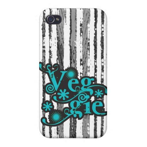 Vintager Veggie, für Vegetarier und Vegans Etui Fürs iPhone 4