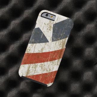 Vintager verblaßter Amerikaner Tough iPhone 6 Hülle