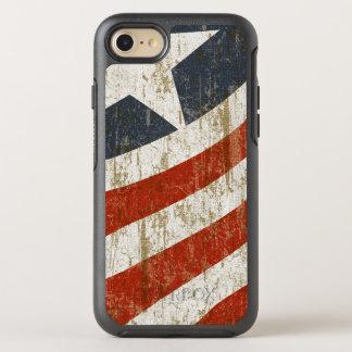 Vintager verblaßter Amerikaner OtterBox Symmetry iPhone 8/7 Hülle