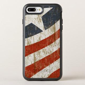 Vintager verblaßter Amerikaner OtterBox Symmetry iPhone 8 Plus/7 Plus Hülle