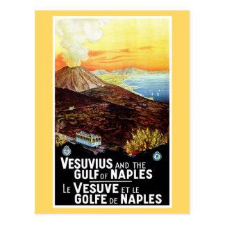 Vintager Vesuv-Golf italienischer Reise Neapels Postkarten