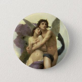 Vintager viktorianischer Engel, Entzückung durch Runder Button 5,1 Cm