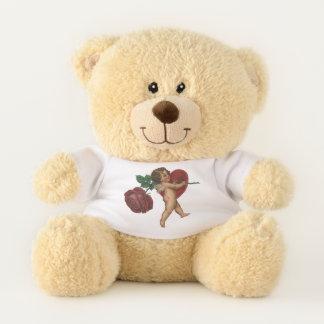 Vintager viktorianischer Engel und -ROSE des Teddybär