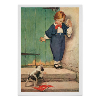 Vintager viktorianischer Junge, Poster