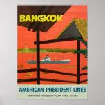 Vintager Vintager Druck Bangkoks Plakatdrucke