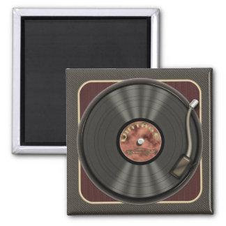 Vintager Vinylaufzeichnungs-Quadrat-Magnet Magnete