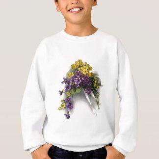 Vintager violetter Blumenstrauß Sweatshirt