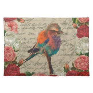 Vintager Vogel Tischset