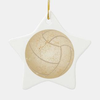Vintager Volleyball Keramik Stern-Ornament