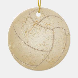 Vintager Volleyball Rundes Keramik Ornament