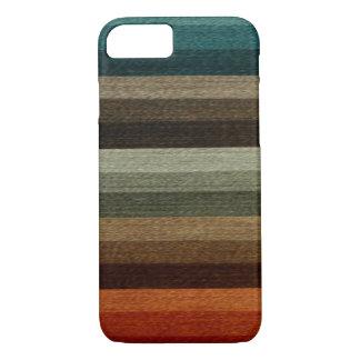 Vintager warmer Herbst-gestreiftes Muster, Erdtöne iPhone 8/7 Hülle