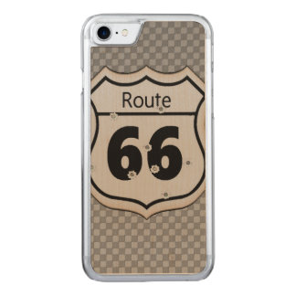 Vintager Weg 66 Carved iPhone 8/7 Hülle