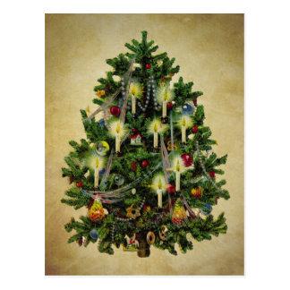 Vintager Weihnachtsbaum Postkarte