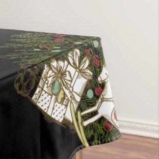 Vintager Weihnachtsbaum-Tabellen-Stoff Tischdecke