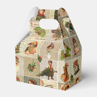 Vintager Weihnachtsbevorzugungs-Kasten Geschenkschachtel