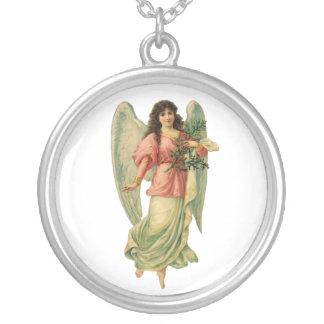 Vintager Weihnachtsengel, himmlisches Amulett