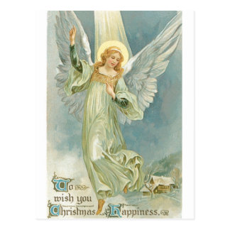 Vintager Weihnachtsengel Postkarte