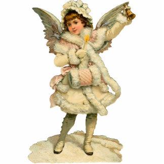 Vintager Weihnachtsengels-Skulptur-Magnet Photo Statue