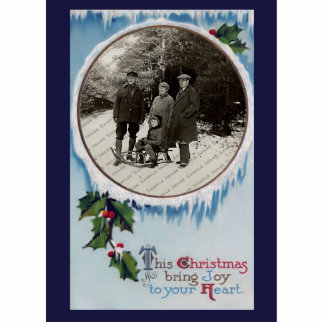 Vintager WeihnachtsFoto-Skulptur-Magnet
