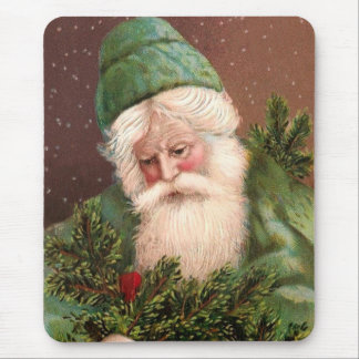 Vintager Weihnachtsmann 10 Mousepads