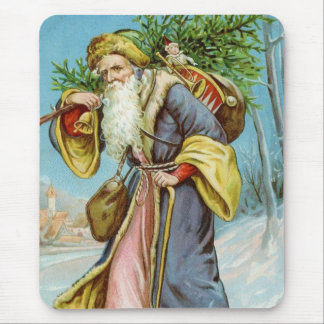 Vintager Weihnachtsmann 4 Mousepad