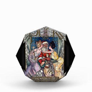 Vintager Weihnachtsmann Acryl Auszeichnung