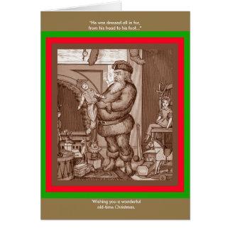 """Vintager Weihnachtsmann """"er wurde gekleidet alle Karte"""