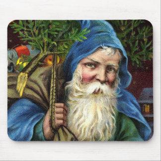 Vintager Weihnachtsmann mit Spielwaren 3 Mauspads