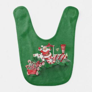 Vintager Weihnachtsmann-Pfefferminz-Süßigkeits-Zug Lätzchen