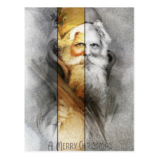 Vintager Weihnachtsmann Postkarte