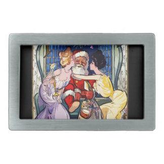 Vintager Weihnachtsmann Rechteckige Gürtelschnalle