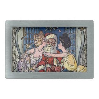 Vintager Weihnachtsmann Rechteckige Gürtelschnallen