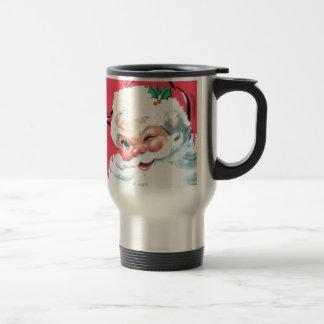 Vintager Weihnachtsmann Reisebecher