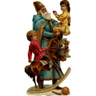 Vintager Weihnachtsmann-Skulpturmagnet Acrylausschnitt