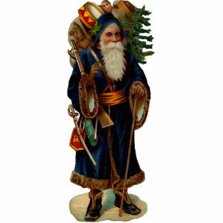 Vintager Weihnachtsmann-Skulpturmagnet Foto Skulptur