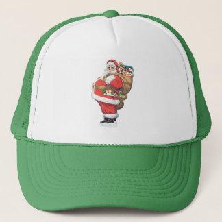 Vintager Weihnachtsmann, viktorianisches Truckerkappe