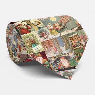 Vintager Weihnachtssankt-Szenen-Klassiker-Feiertag Krawatte