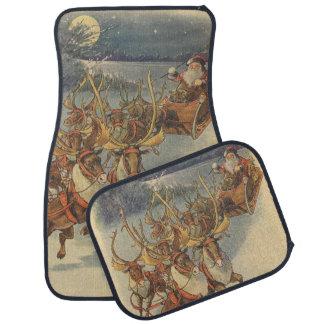 Vintager WeihnachtsweihnachtsmannSleigh mit Ren Automatte
