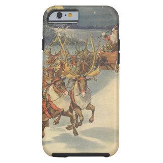 Vintager WeihnachtsweihnachtsmannSleigh mit Ren Tough iPhone 6 Hülle