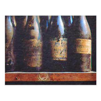 Vintager Wein Postkarte