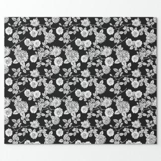 Vintager weißer Blumen-DIY Hintergrund des Geschenkpapier