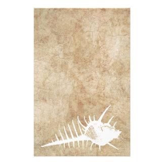 Vintager weißer Ozean Seahell Strand Bedrucktes Büropapier