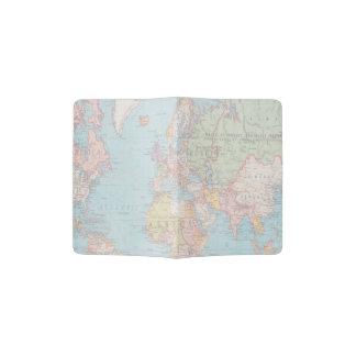Vintager Weltkarten-Pass-Halter Passhülle