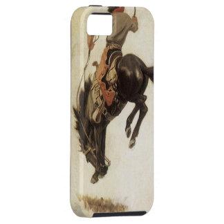 Vintager Western, Cowboy auf einem sträubenden iPhone 5 Case
