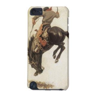 Vintager Western, Cowboy auf einem sträubenden iPod Touch 5G Hülle