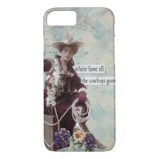 Vintager Western-Cowgirl iPhone 7 Fall iPhone 8/7 Hülle